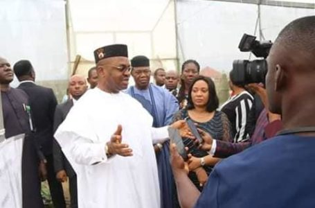 Akwa Ibom State Governor pays  Visit To State Government Owned Tomatoes Farm
