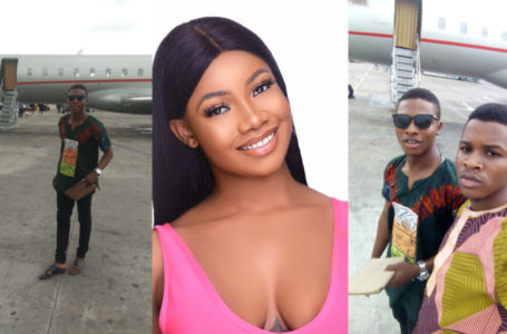 Tacha's Port Harcourt fans slept overnight at the airport to welcome her (Photos)
