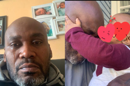 Single father in tears after he finds out his 9months baby is not his (Photos)
