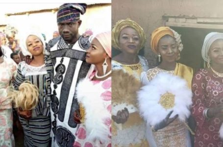 Baba For The Girls! Wedding photos of the man who married three wives on same day