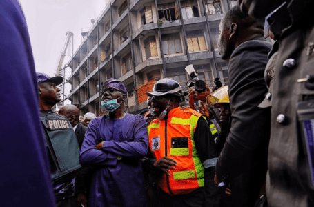 Sanwo-Olu vists burnt Lagos market, reveals what he would do via Instagram message