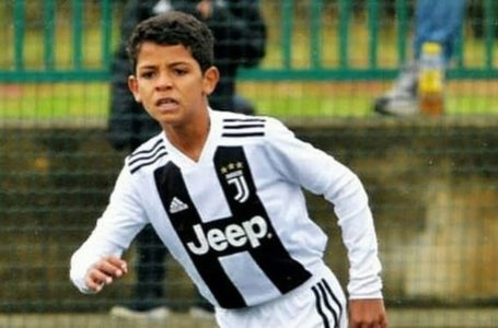 C. Ronaldo's 9-yr-old son follows his step with 58 goals in 28 games for Juventus academy (Videos)