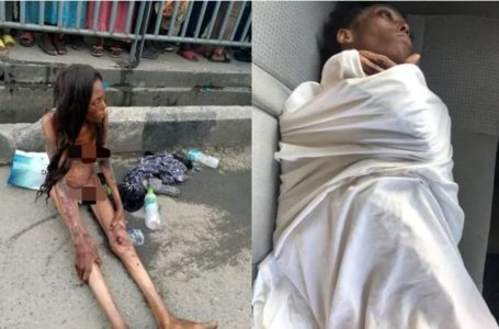 See new pictures of the lady dumped in Ajah naked last month