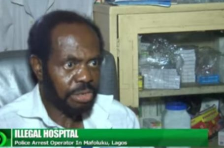 Police in Lagos discover an illegal hospital a Ghanaian has operated for 23 years