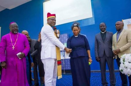 Photos: Nigerian female senator gets ordained as Pastor