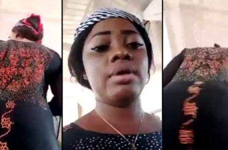 Nigerian lady with heavy behind videos herself twerking during praise and worship in church (Video)