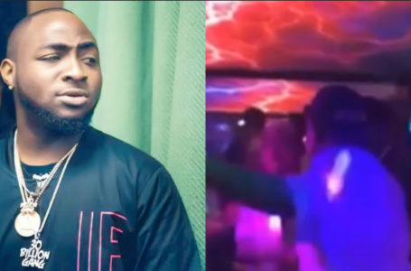 Davido cries out in pains as a fan almost broke his hand while shaking him at an event (Video)