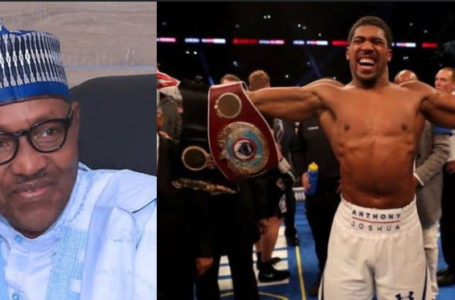 Anthony Joshua to present boxing titles to Buhari