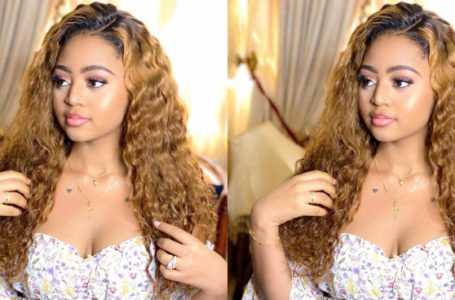 Regina Daniels shares new photos of herself in a maternity dress amidst pregnancy gossips (Photo)