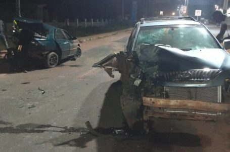 Accident along Mirian Babangida road opposite CBN Asaba. Delta State. (Video)