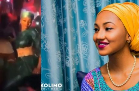 Presidential Groove! Buhari's Daughter, Zahra Buhari spotted digging it low in a club (Video)