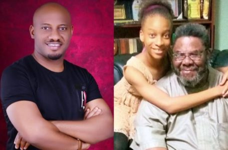 Adorable photo of Pete Edochie and his grand daughter Danielle
