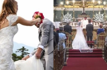 Viral video captures moment groom's ex-girlfriend shows up to his wedding