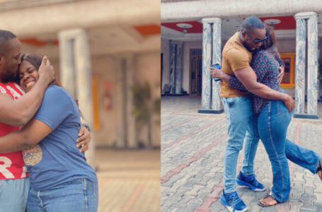 See how Nigerian man grabs his younger sister's bum in public (Photos)