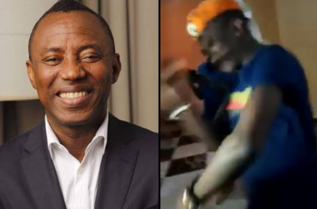 Sowore was seen dancing 'Soapy ' song by Naira Marley (Video)