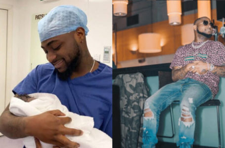 Daddy responsibilities! Davido shares a cute photo of his video call with his son, Ifeanyi