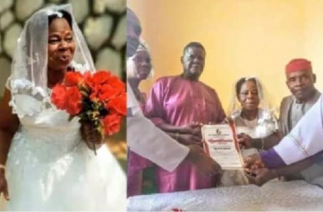 60-Year-Old Woman Gets Married For The First Time in Anambra state (Photos)