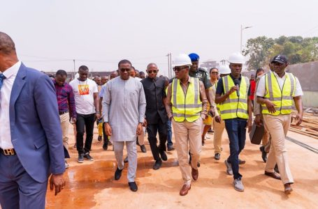Gov Ifeanyi Okowa inspects the construction sites of the State's Court of Appeal Complex the Directorate of Chieftaincy Affairs Secretariat [Photos]