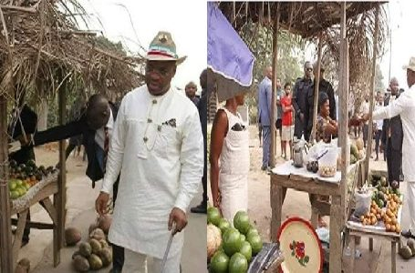 See what Governor Udom Emmanuel Did at the market Yesterday. (Photos)