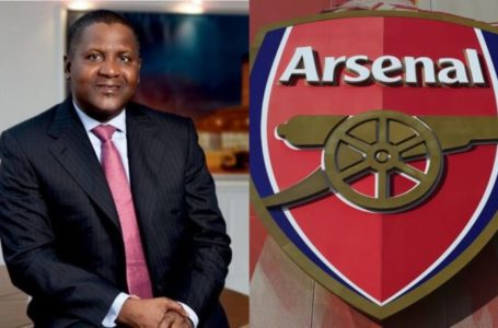 Aliko Dangote reviews when he's buying Arsenal Football Club