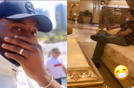 Fear Of Corona Virus: Fear grips Ebuka as he lands in Dubai for the wedding of Davido's brother