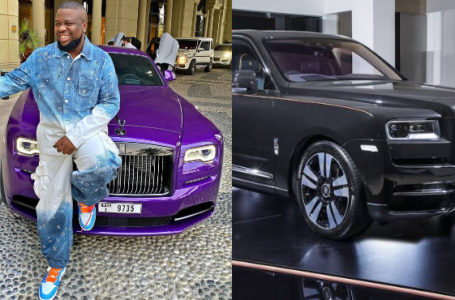 Hushpuppi sold his customized purple Rolls Royce and ordered for 300 million naira Cullinan Mansory [PHOTO]
