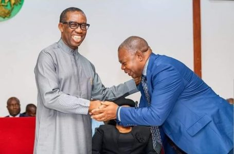 CONGRATULATES GOV OKOWA ON YOUR EMERGENCE AS CHAIRMAN SOUTH SOUTH GOVERNOR'S FORUM – ONYEME