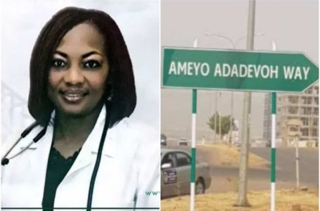A major road has been named after late Dr Stella Adadevoh Ebola Saviour in Abuja