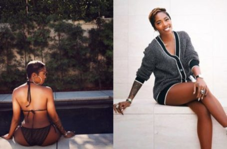 Tiwa Savage flaunts her body in Fendi Bikini set worth N180k (Photos)