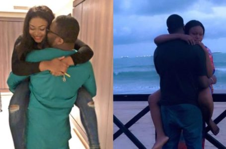 Actress Ruth Kadiri hides her husband's face as she celebrates him on Val's Day (Photo)
