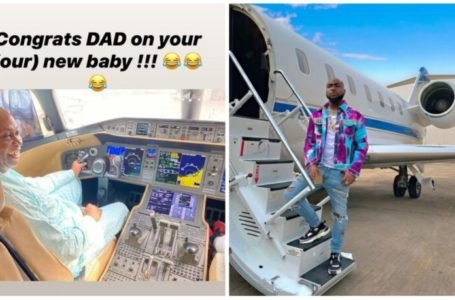 Dr Adedeji Adeleke Davido's father buys a new jet for long-distance flights (Video)