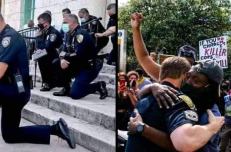 Watch the moment Miami Police humbled themselves by kneeling down to the protesters