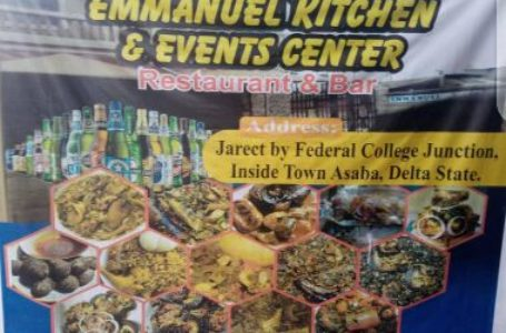 Visit EMMANUEL KITCHEN AND EVENT CENTER [ No 17 Jarret street, Cable Point from Federal College of Education Junction Asaba ]