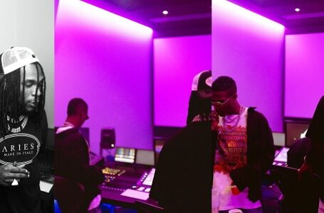 Fans Reacts As Burna Boy and Wizkid Hit The Studio (Photo)